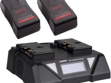 Rent: 6 x SWIT Gold Mount Batteries / 3 x Dual Chargers