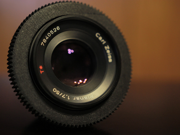 Rent: Zeiss Contax 50mm f/1.7 Declicked w/ EF Mount Adapter