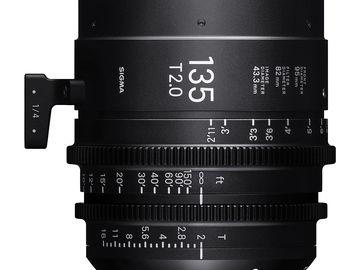 Rent: Sigma 135mm T2.0 FF High-Speed Prime (PL Mount, Feet)