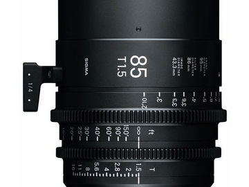 Rent: Sigma 85mm T1.5 FF High-Speed Prime (PL Mount, Feet)