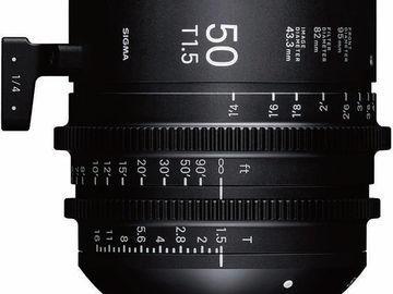 Rent: Sigma 50mm T1.5 FF High-Speed Prime (PL Mount, Feet)