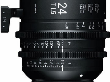 Rent: Sigma 24mm T1.5 FF High-Speed Prime (PL Mount, Feet)
