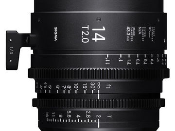 Rent: Sigma 14mm T2.0 FF High-Speed Prime (PL Mount, Feet)
