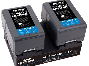 Rent: V-Mount Batteries 190Wh & Dual Charger