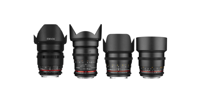 Rokinon Cine DS Lens Set 16mm 35mm 50mm 85mm