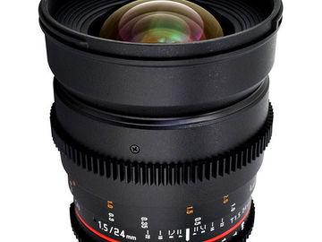 Rent: Rokinon  T1.5 Cinema Prime Lens Set: 24mm, 35mm, 50m, 85mm