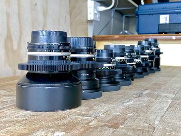 Rent: Arboretum's 9 Vintage Nikon Nikkor AIS Cine-Mod Prime Set