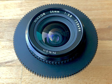Rent: Nikon 24mm f2.8  AIS Super Speed Nikkor Cine-Mod Prime Lens