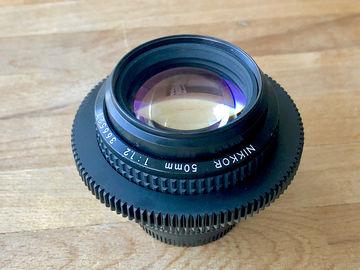 Rent: Nikon 50mm f1.2  AIS Super Speed Nikkor Cine-Mod Prime Lens