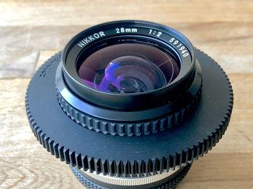 Rent: 28mm f2  AIS Super Speed Nikon Nikkor Cine-Mod Prime Lens