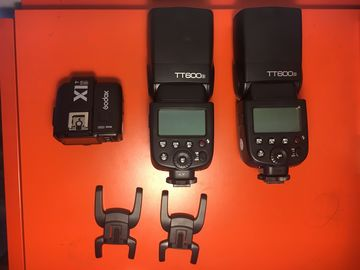 Rent: Godox TT600S For Sony Cameras- Two Flashes and X1T-S Remote