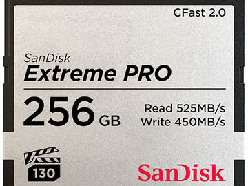 Rent: (x3) SanDisk 256GB Extreme PRO CFast 2.0 Memory Card