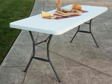 Rent: 6ft Folding Table -- Great for crafty