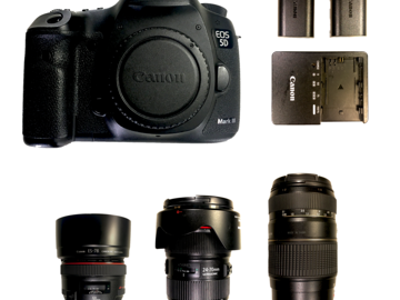 Rent: Canon Canon 5D Mark III + Lenses Kit