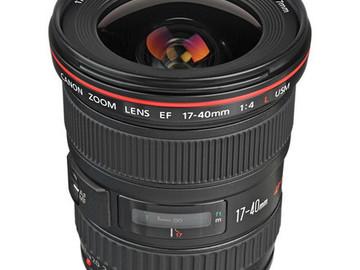 Rent: Canon 17-40 Zoom
