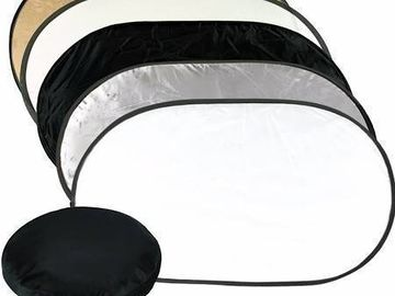 Rent: Neewer 5 in 1 Reflector 80X120cm, Stand and Clamp