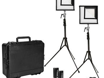 Rent: Westcott Flex Bi-Color LED 2-Light Cine Travel Kit (1' x 1')