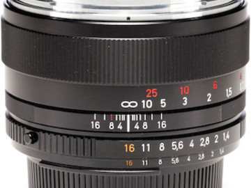 Rent: Canon/Nikon Mount Wide Zeiss ZF.2 Lens - 50mm F1.4