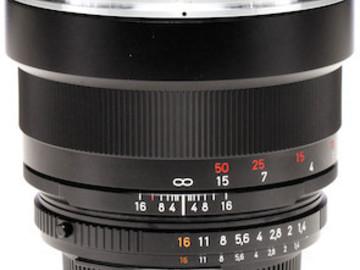 Rent: Canon/Nikon Mount Telephoto Zeiss ZF.2 Lens - 85mm F1.4