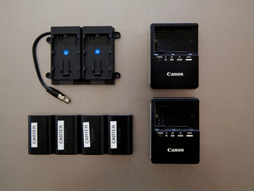 Rent: TV Logic 5.6 CANON LP-E6 BRACKET + CHARGERS + BATTERIES SET