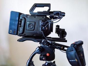 Rent: Blackmagic Ursa Mini 4.6k EF with Shoulder Mount and EVF