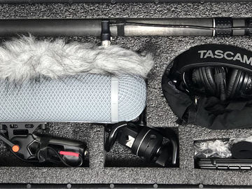 Rent: Audio recorder field sound kit, Sennheiser 416/418, Zoom H4n