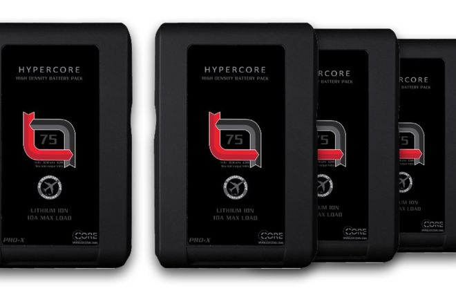 4X V-Lock Battery Hypercore SLIM 7 RED + Charger