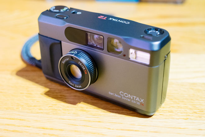 Contax T2 (w/ databack + hand strap + case)