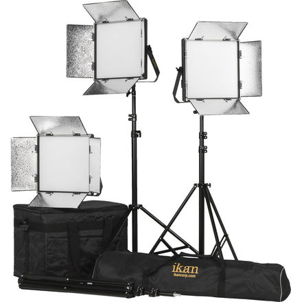 ikan Lyra 1 x 1 Bi-Color 3-Point Soft Panel LED Light Kit