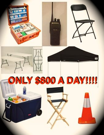 LARGE Production Package -Radios, Tables, Chairs, Tents, etc