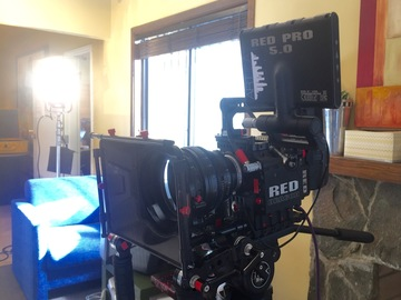 Rent: Red Scarlet Dragon  L series glass tripod and shoulder rig