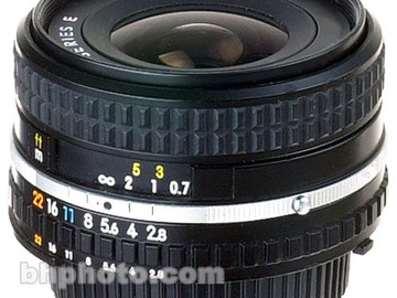 Rent: Nikon Wide Angle 28mm f/2.8 AIS Manual Focus Lens