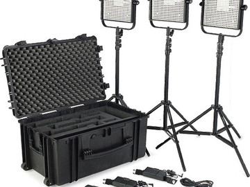 Rent: 1x1 Litepanel kit -- 3 Lite panels included. W/chimera!