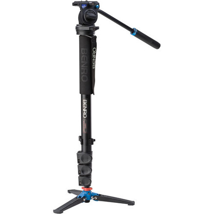 Benro Aluminum Monopod with 3-Leg Base and S2 video head