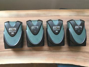 Rent: 4X Anton Bauer Digital 90 Gold Mount Battery Package