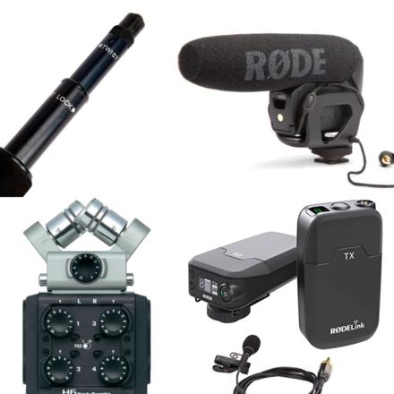 Audio Flex Package> LAV + BOOM + SHOTGUN MIC + ZOOM RECORDER