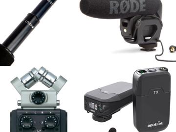 Rent: Audio Flex Package> LAV + BOOM + SHOTGUN MIC + ZOOM RECORDER