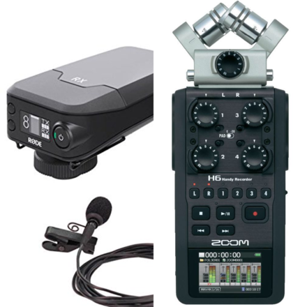 Audio Go Package >  Rode LAV Mic + Zoom H6N Recorder
