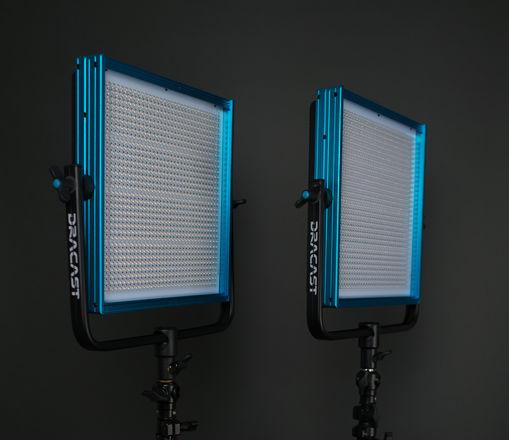2 Dracast LED1000 Pro Bi-Color LED [2-Light Kit] with Stands