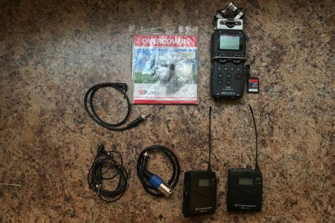 Sennheiser ew 100 ENG G3 Wireless Kit With ZOOM H5 recorder