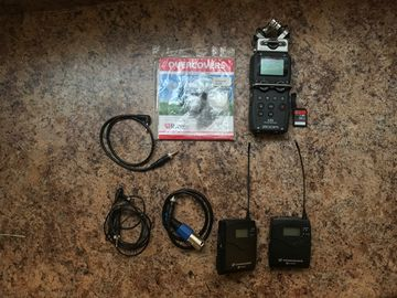 Sennheiser ew 100 ENG G3 Wireless Kit With ZOOM H5 recorder