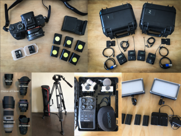 Rent: INTERVIEW PACKAGE: a7s II + 2 LAVs + tripod + Lights + lens