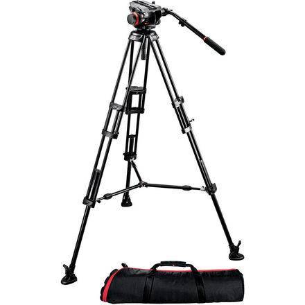 Manfrotto 504 HD tripod w/ baseplate and rods