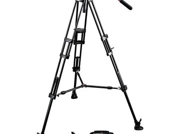 Rent: Manfrotto 504 HD tripod w/ baseplate and rods
