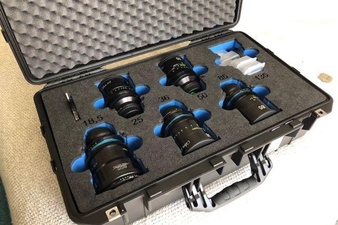 Celere HS Prime 5 Lens Kit - T1.5 - 18.5, 25, 36, 50, 85