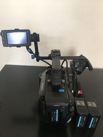 Sony FS7 camera body w/speedbooster, extra batteries & memor