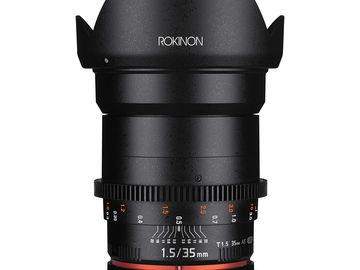 Rent: Rokinon Cine DS 35mm T1.5 Single Lens
