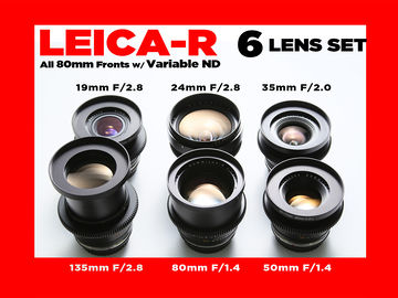 Rent: (6) Leica R Lens Set (Summilux, Summicron) FULL FRAME (EF)