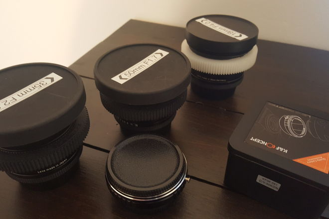 Contax Zeiss EF lenses