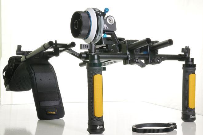 Ikan EV3 Flyweight Offset DSLR Shoulder Rig w/Follow Focus